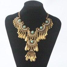 2017 new Femme bijoux maxi Statement Necklace Pendants women Gypsy Vintage Choker Collar bohemian necklace women