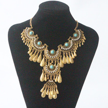 Find Me 2017 brand punk maxi Statement Necklace Pendants Gypsy Vintage big beads Collar choker necklace