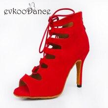 2017 boots style Zapatos de baile latino scarpe da ballo Salsa Red Blue Black Purple Nubuck Latin Dance Shoes for Ladies NL001