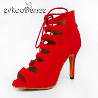 2017 Boots Style Zapatos De Baile Latino Scarpe Da Ballo Salsa Red Blue Black Purple Nubuck