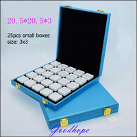 Portable Loose Diamond Jewelry Display Case Holder Gem Show Storage Container Box And Tray For Gemstone