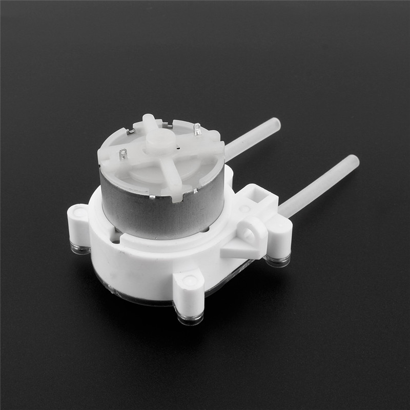1Pcs 6V DC Dosing pump Peristaltic Dosing Head with Water Pipe for aquarium chemicals dosing additives