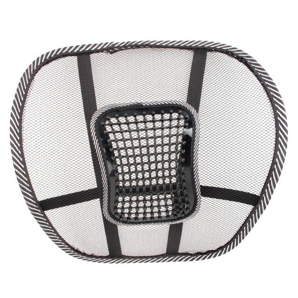 Universal Car Seat Massage Cushion Mesh Lumbar Back Brace Support Cool Summer Office Home Auto Seat Pad Supports