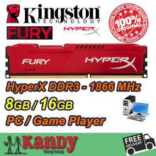 Kingston Hyperx Fury desktop memory RAM DDR3 8GB 16GB 1866 MHz PC3 15000 Non ECC 240 Pin DIMM memoria ram computer computador pc