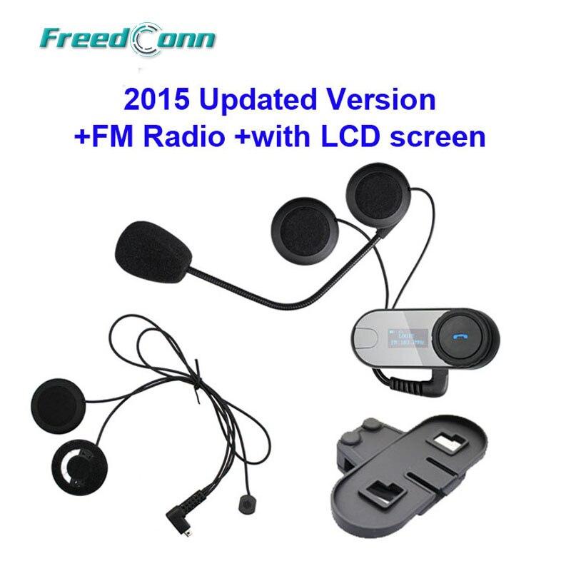 Free shipping TCOM SC W Screen Bluetooth Helmet Intercom Headset extra Soft Earpiece extra Bracket