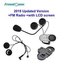 Бесплатная доставка! TCOM-SC W/Экран Bluetooth Шлем Интерком-Гарнитура + дополнительная Мягкая Динамик + дополнительный Кронштейн