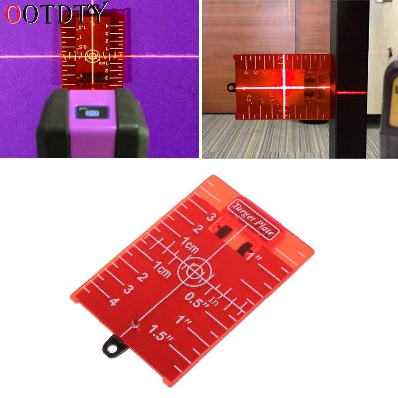 OOTDTY Magnetische Rote Ziel Platte Für Rotary Kreuz Linie Laser Ebene Abstand Vermesser