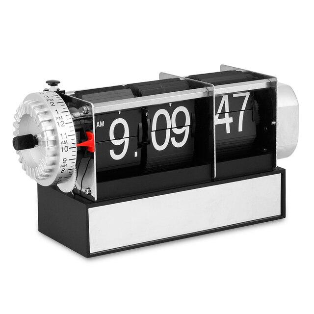 Table Alarm Flip Clock Antique Retro Style Digital Dynamic With Gift Desk Gear