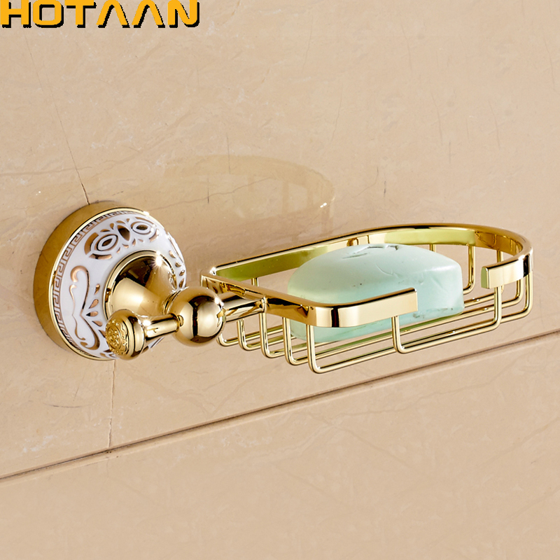 New Golden Finish Wall mounted Soap Basket,Soap Dish,Soap Holder,Bathroom Accessories,Bathroom Furniture Toilet Vanity YT-10290