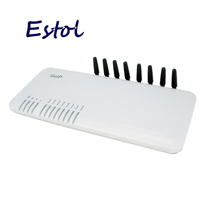Prix pour En gros 8 Canaux GOIP GSM passerelle pour résiliation, prise en charge VPN & IMEI changement et SMS, GSM sip voip passerelle
