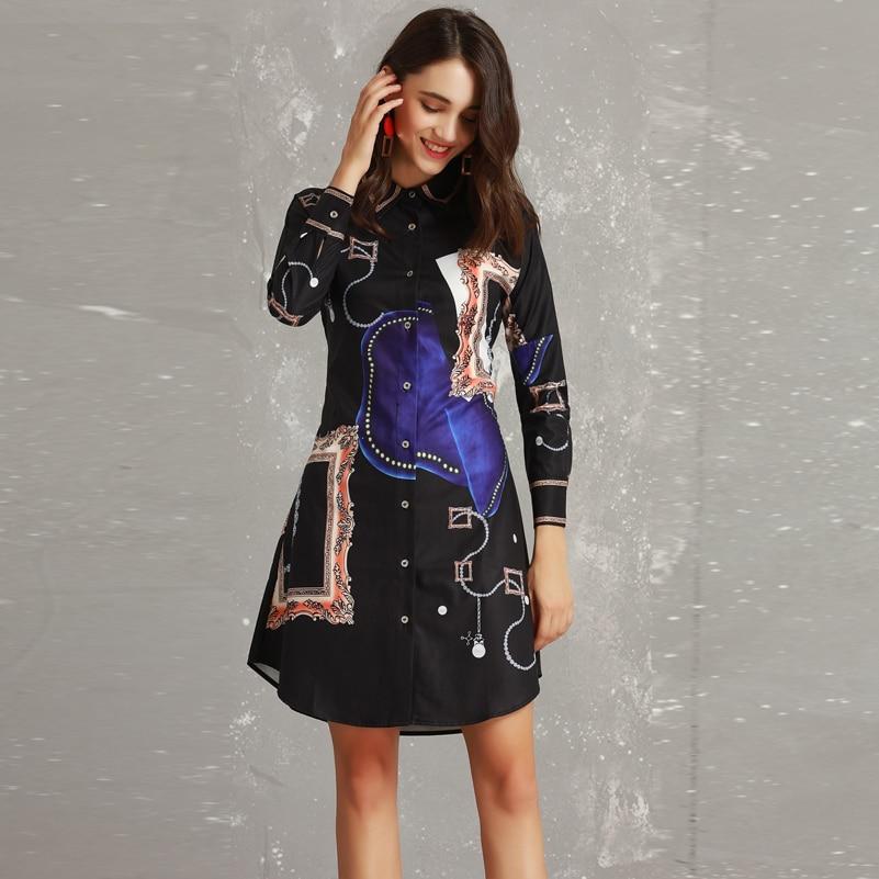 e8e40eb74bd7 Haute Designer De À Mode Manches Femmes Vintage Imprimer Parti Longues Slim  Court Qian Qualité Han ...