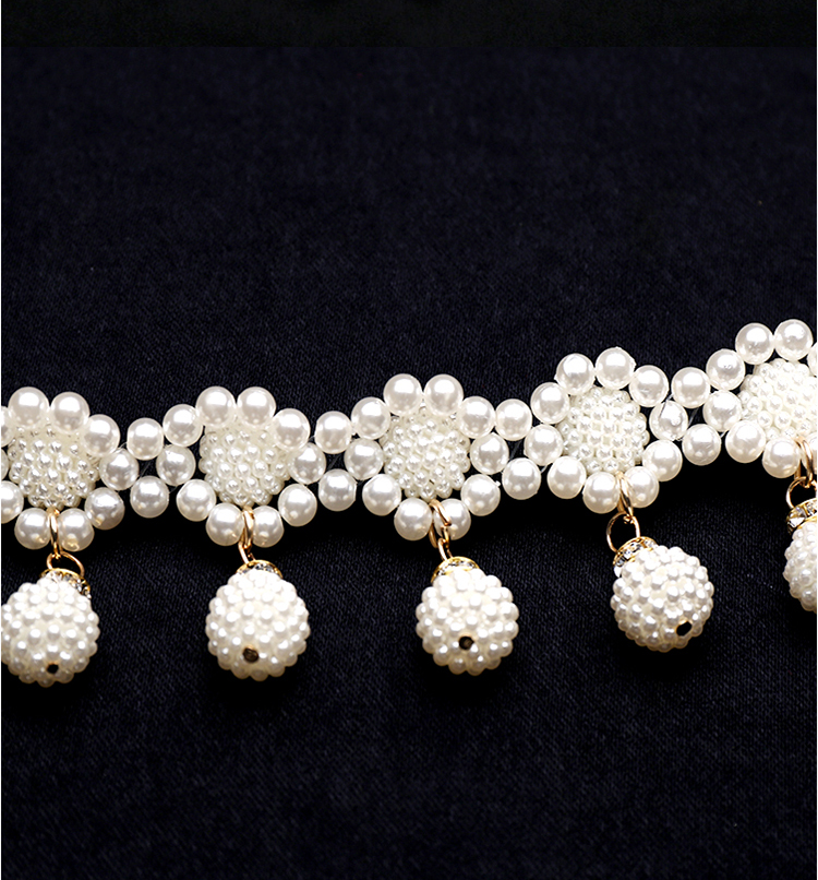HTB1n.g6KmzqK1RjSZFLq6An2XXaQ - Fashion Elegant Women Imitation Pearl Belts Alloy Chain Belts Sunflower Imitation Pearl Chain Women Clothing Accessories