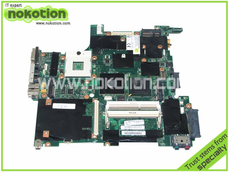 NOKOTION FRU 42W8125 For Lenovo thinkpad R400 T400 motherboard Intel gm45 DDR3 14 inch Screen Mother Boards Mainboard nokotion sps v000198120 for toshiba satellite a500 a505 motherboard intel gm45 ddr2 6050a2323101 mb a01