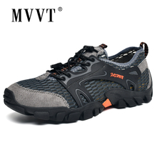 Genuine Leather Men Hiking Shoes Quik-dry Outdoor Sneakers Men Summer Breathable Sport Shoes For Climbing winter outdoor travel walking sport shoes genuine leather women breathable hiking shoes ankle boots climbing sneakers big size
