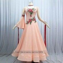2019 긴 소매 볼룸 댄스 경연 대회 드레스 바디 슈트 브래지어 컵 stret red motif professional dance competition dress