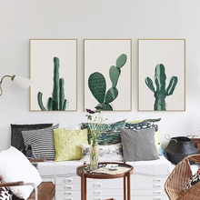 Elegant Poetry Nordic Modern Minimalistic Plant Cactus Canvas Painting Art Print Poster Picture Wall Home Bedroom Decor