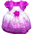 Kids Girl baby Dress Rose Baby Girl Princess Clothing Infant Dress With Bow Girl Formal Party Dress Chirstmas