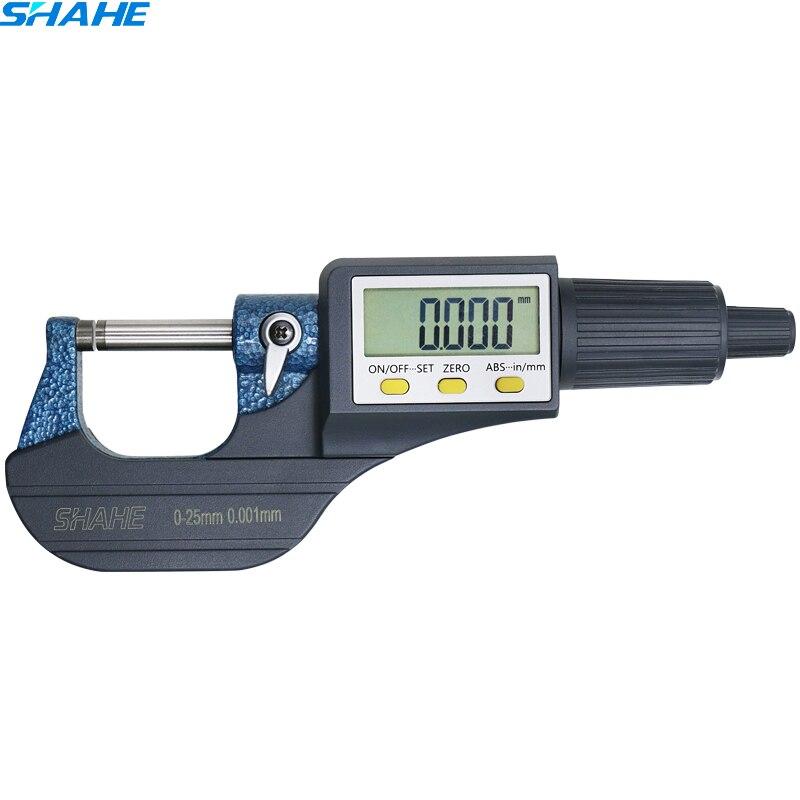 0-25 milímetros Digital Ferramentas de Medição micrômetro Micrômetro Eletrônico fora micrômetro 0.001 milímetros Micrômetro digitais