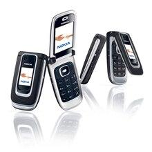 Celular nokia 6131 original recondicionado, telefone móvel 2g gsm desbloqueado com teclado inglês, árabe hebraico, teclado russo