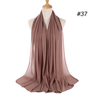 Image 5 - M MISM 40 kolory muzułmańskie szale wiskoza kaszmirowy szalik kobiety szyfonowy hidżab długi solidny szal kaszmirowy szalik na głowę Foulard Femme