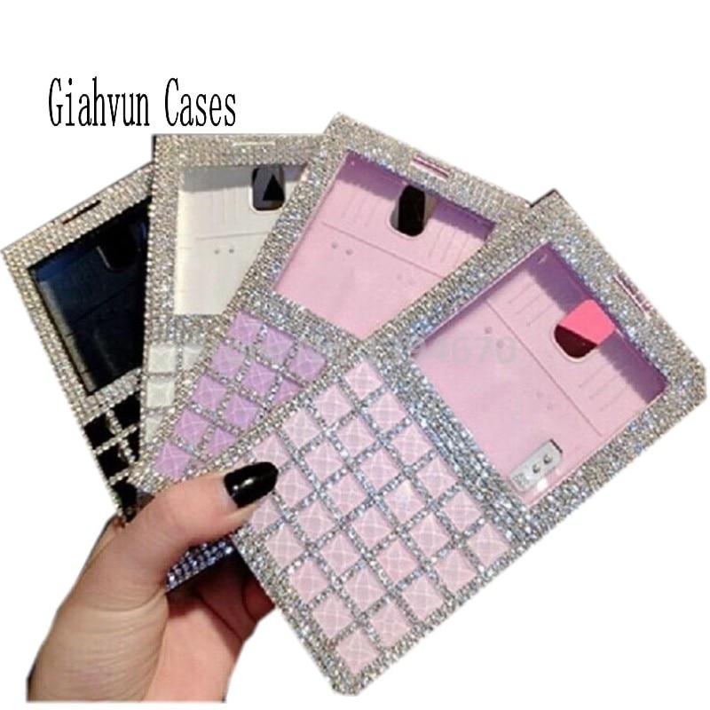 bilder für Bling kristall diamant Window View Leder Fall rückseitige abdeckung Für Samsung Galaxy S 3 4 5 Hinweis 4 5 3 N910 S6 S7 RAND plus