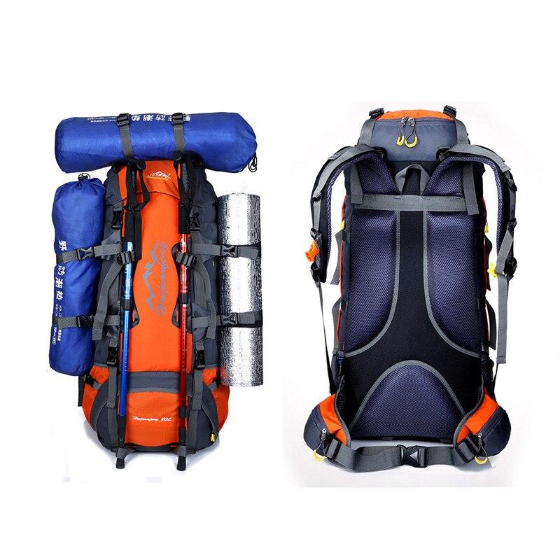 Trail running 80L Waterproof Sports Tactical Camping Hiking Backpack Luggage Rucksack Bag New cinturon trail deporte trail running