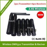 Dhl 무료 배송 2.4g dmx512 dmx dfi dj 무선 컨트롤러 시스템 무대 조명 콘솔