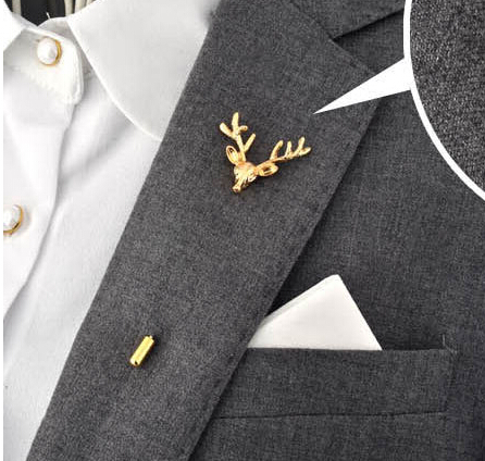 Finish your look with a Lapel Pin from The Men's Wearhouse. Whether you're a mega sport star, heading to prom, or topping off your wedding look, Lapel Flowers or Pins add a pop of elegant color to any Suit .