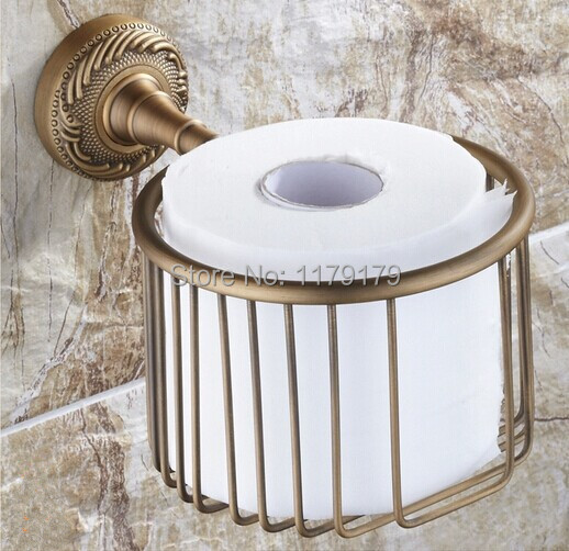 ФОТО free shipping Europen  Classic style antique brass paper Roll Holder bathroom accessoriesTC5613