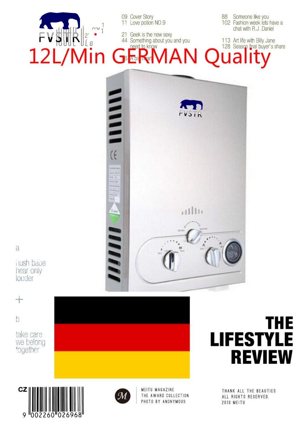 Горячее предложение Ce дымового типа 12l Lp газовый мгновенный нагреватель для горячей воды Lpg пропан нержавеющий безрезервуарный бойлер для мытья душа качество