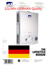 цена на 12L Natural Gas Instant Hot Water Heater Lpg Propane Stainless Tankless Wash Shower Boiler 100% quality