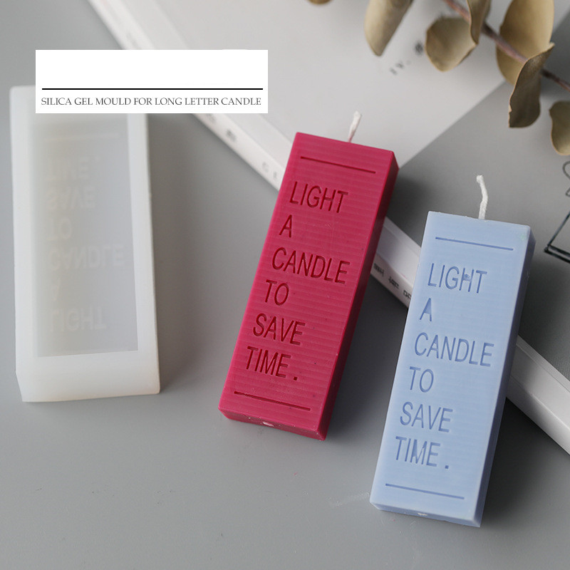 Rectangle Letter Candle Mold INS Popular Style Simple Cool Color Style Scented Candle Mold