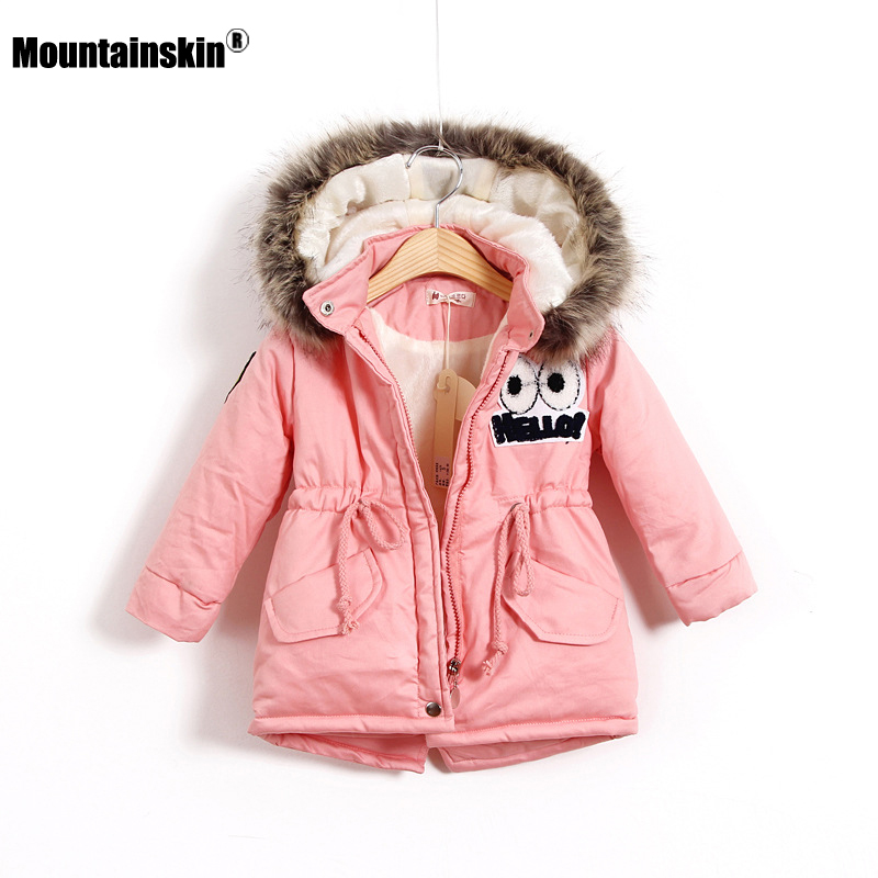 Mountainskin 2017 Winter Autumn Girls Jacket Warm Thick Hooded Coats Children Clothing Kids Thermal Outwear Outdoor 3-12T SC884 mountainskin 2017 winter autumn spring baby boys girl sweater kids rompers children suit cardigan thick warm outwear 0 24m sc895
