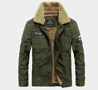 NIANJEEP Autumn Winter Cotton Padded Jackets Men S Thicken Parkas New British Style Army Green Coat