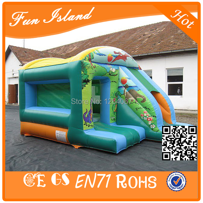 Inflatable American Animal bouncer combo,jumping bouncer with slide combo,children play area bouncy slide castle family use inflatable toys for children play inflatable playground with bouncy and slide