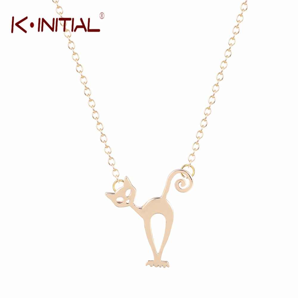 Kinitial Dance Cat Necklace Animal Stray Necklaces Kitten Jewellery Designs Fancy Cats Fashion Pendant Necklace Jewelry Collar