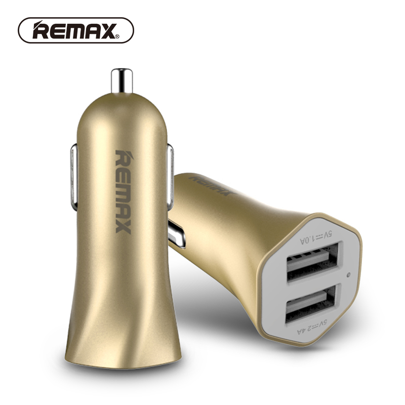 REMAX dual USB 3.4A car charger Travel Adapter Cigar Lighter for iphone5 7/samsung/ipad/bluetooth Metallic UV quick Charger