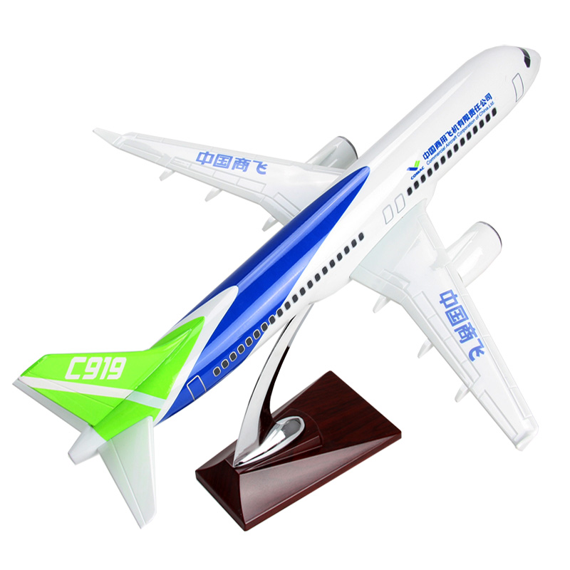 New Large Size Air COMAC C919 China Commercial Aircraft Corporation Airlines Plane Model Aircraft Airplane Model For Adult Gifts 11167 phoenix malaysia airlines jubli 50 emas 1 400 b777 200er commercial jetliners plane model hobby