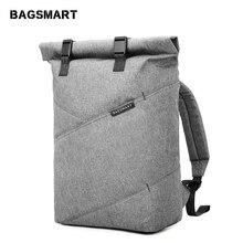 BAGSMART กระเป๋าเป้สะพายหลังกระเป๋าเดินทางอเนกประสงค์ Roll Top แฟชั่น Rucksack เหมาะกับแล็ปท็อปขนาด 15.6 นิ้ว