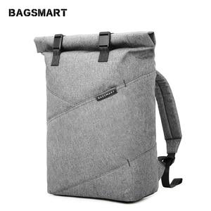 Image 1 - BAGSMART กระเป๋าเป้สะพายหลังกระเป๋าเดินทางอเนกประสงค์ Roll Top แฟชั่น Rucksack เหมาะกับแล็ปท็อปขนาด 15.6 นิ้ว
