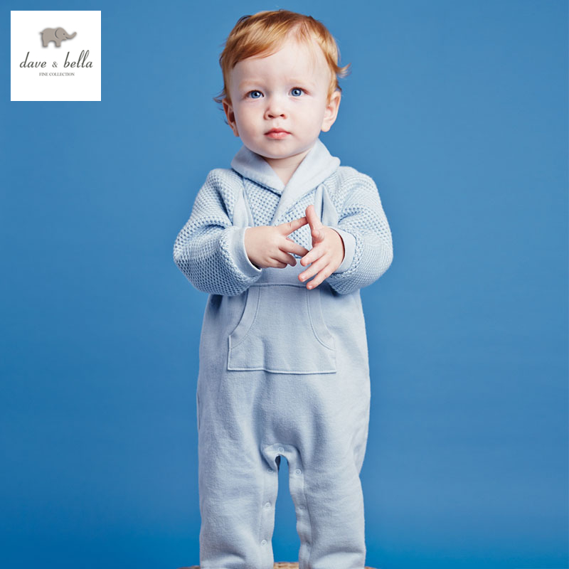 ФОТО db2746 dave bella  autumn baby boy romper infant romper toddle cloth boys clothes baby one pieces baby clothing