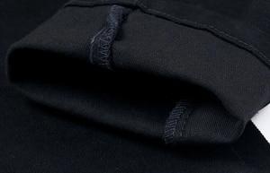 Image 4 - เกาหลีสไตล์ cool fashion punk กางเกงหนังซิปสีดำสีแน่น skenny Plus ขนาด 33 34 36 Rock กางเกง