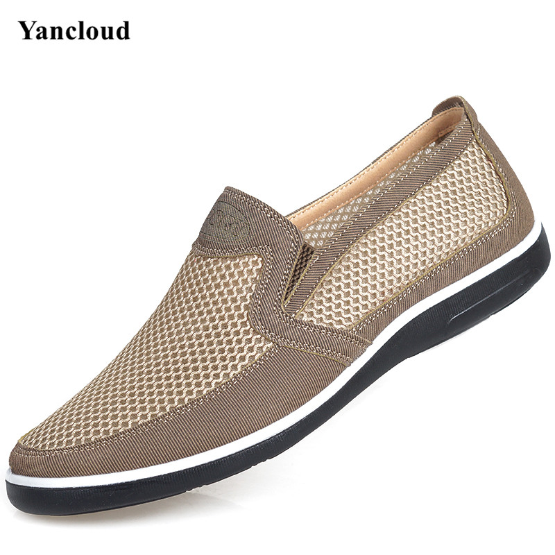 High Quality Fashion Air Mesh Men s Shoes Summer 2017 Slip on Men Loafers Casual Flats