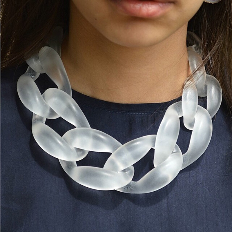 Resin Jewelry Statement Necklace Fashions