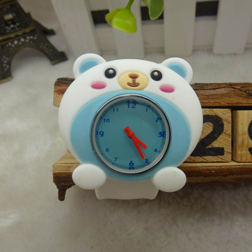 Cute Adorable Cartoon Gel Unisex Children Quartz Kids Strap Wrist Watch Cute Unique Pattern Gift  LXH