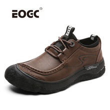 Quality Men Casual Shoes Genuine Leather Flats Soft Outdoor Top Lacing Retro Formal