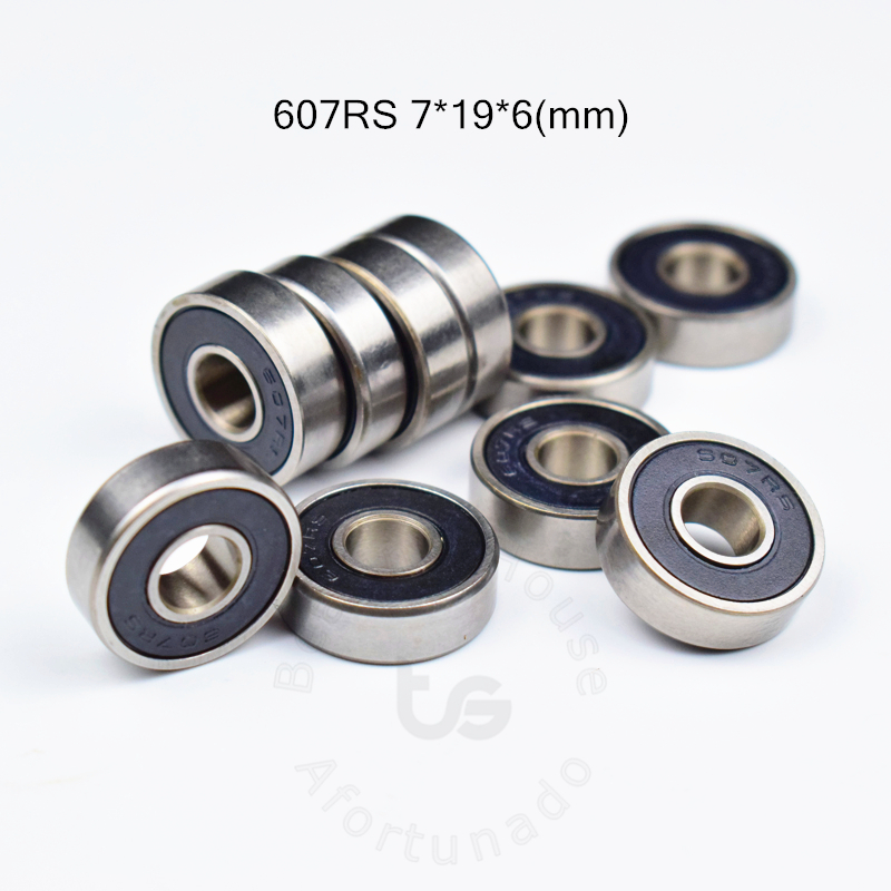 607 607RS  7*19*6(mm) 10pieces Free Shipping Bearing ABEC-5 10pcs Sealed Miniature Mini Bearing 607 607RS Chrome Steel Bearings