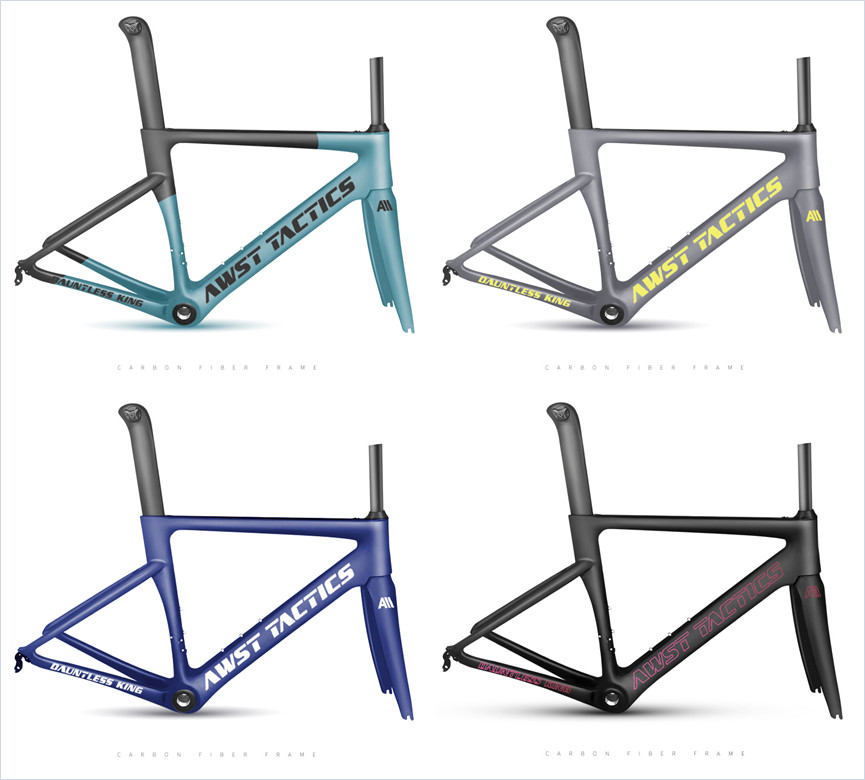 Wholesale Multiple Colour Hidden Cable Design Taiwan Aero Oem Carbon Road Bike Frame Carbon Fiber Road Bike Frame Set