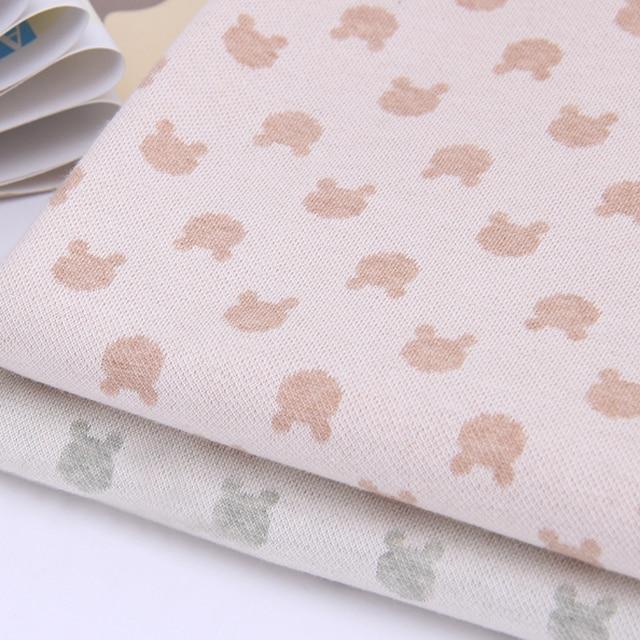 Textil Bears Patrón de Tejido Jacquard de Punto de Algodón Orgánico ...