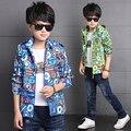 2016 New Spring Autumn Baby Boys Clothes Boys Cartoon Ball Full Zipper Hooded Jackets Kids Windbreaker Child Coat Baby Outwear